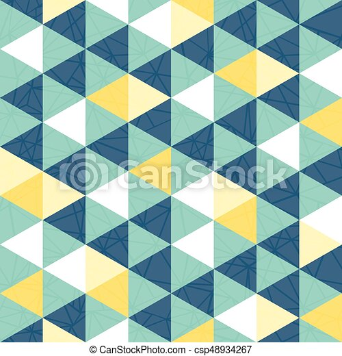 Vector Blue And Yellow Triangle Texture Seamless Repeat Pattern Background Perfect For Modern Fabric Wallpaper Wrapping Stationery Home Decor Projects