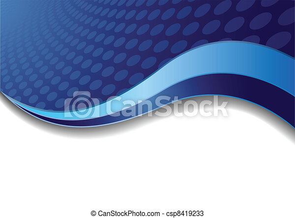 Vector blue background with circle - csp8419233