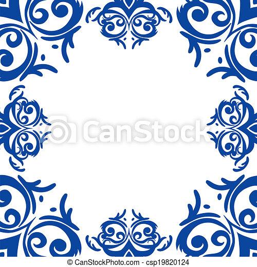 royal blue border design
