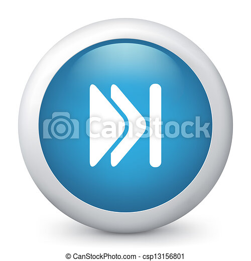 Vector blue glossy icon. - csp13156801