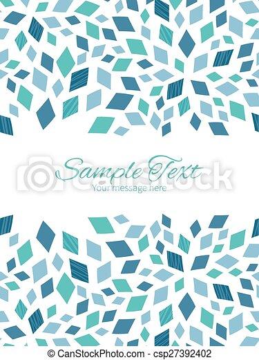 Vector blue mosaic texture vertical double borders frame invitation vector blue mosaic texture vertical double borders frame invitation template stopboris Image collections