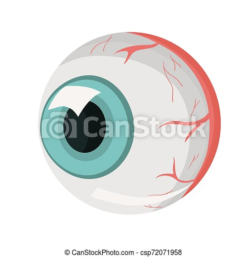 El ojo humano. Parte del cuerpo humano. Aíslate de fondo blanco. La plantilla del vector. - csp72071958