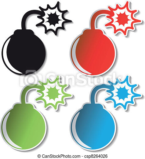 vector bomb stickers clip art vector search drawings and graphics rh canstockphoto co uk stickers clipart black and white car stickers clipart