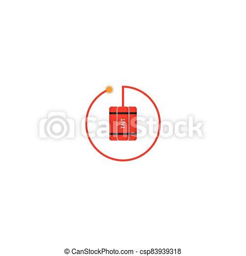 vector, bomba, ilustración, tnt, logotipo, icono - csp83939318