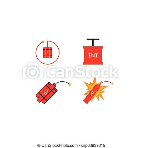 vector, bomba, ilustración, tnt, logotipo, icono - csp83939319