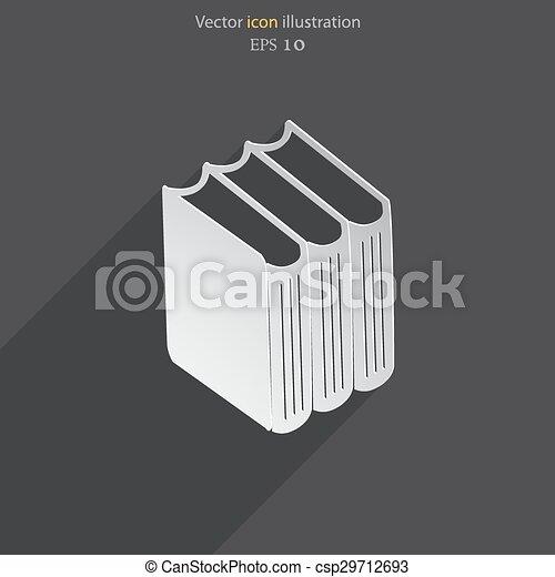Vector book icon - csp29712693