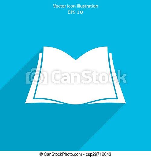 Vector book icon - csp29712643