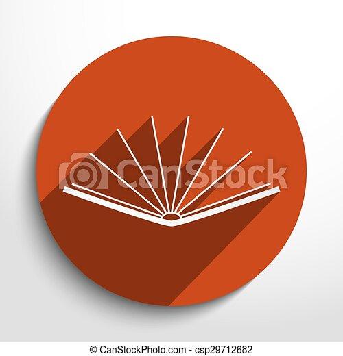 Vector book icon - csp29712682