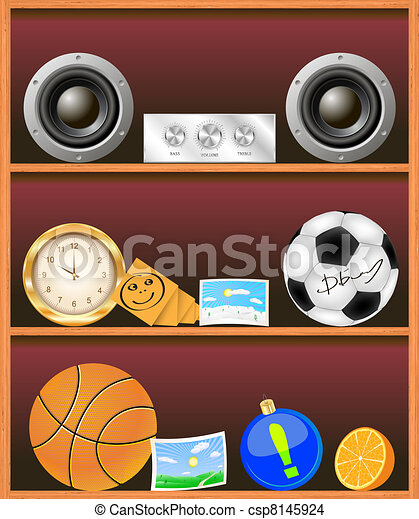 Vector bookshelf illustration - csp8145924