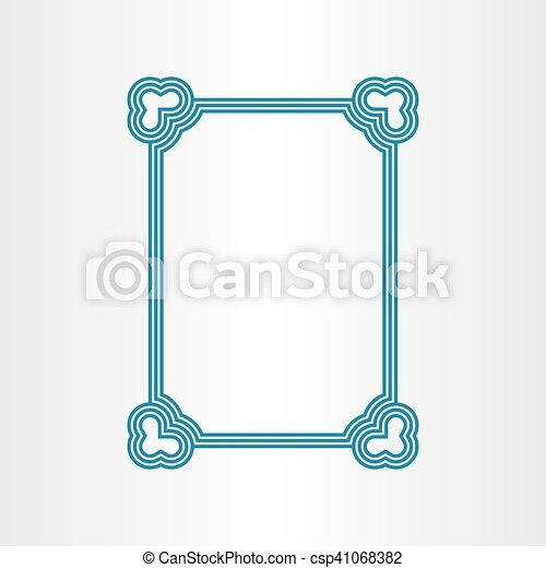 Vector border blue text frame outline vector - Search Clip Art ...