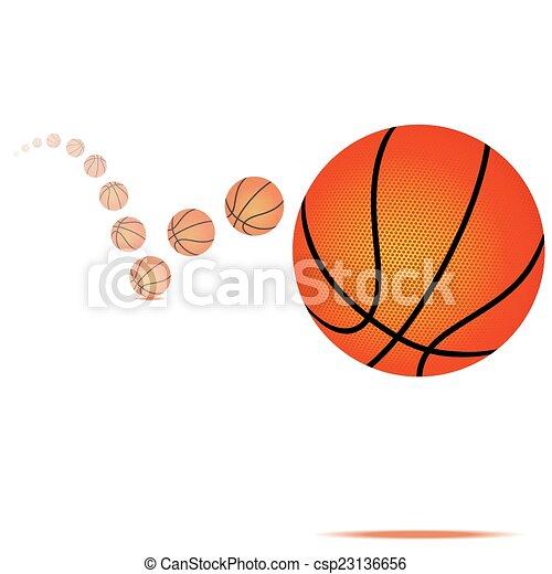 Vector bouncing basketball - csp23136656