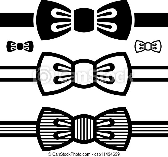 vector bow tie black symbols - csp11434639