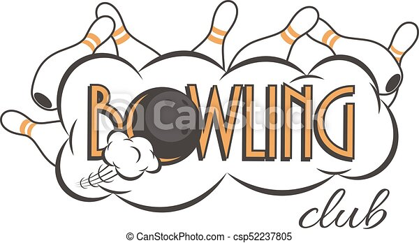 vector bowling club logo bowling strike with bowling club vector rh canstockphoto com bowling logos designs bowling logos designs