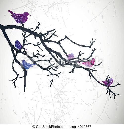 Vector Branch with Birds - csp14012567