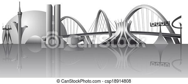 vector Brasilia city skyline - csp18914808