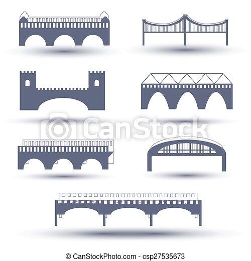 Vector bridge icon set - csp27535673