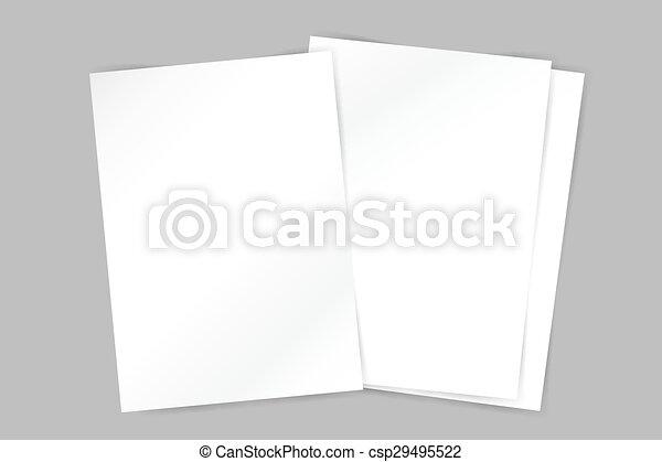 Vector Brochure Blank Template Abstract Flyer Design And Creative - Brochure blank template