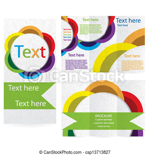 Vector Brochure Layout Design Template Abstract Vector Illustration