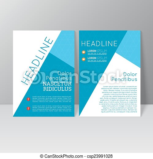 Vector brochure template design - csp23991028