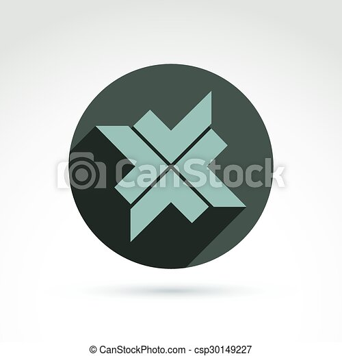 Vector Bronze Geometric Abstract Emblem Placed In A Circle