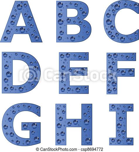 vector bubble alphabet - part 1 - csp8694772