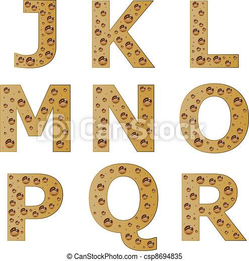 vector bubble alphabet - part 2 - csp8694835