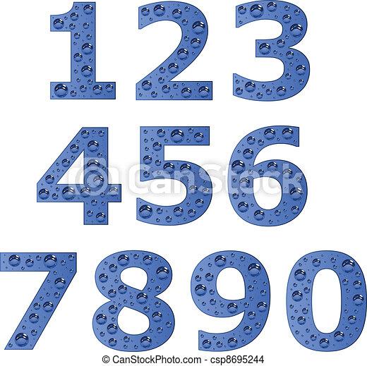 vector bubble digits - csp8695244