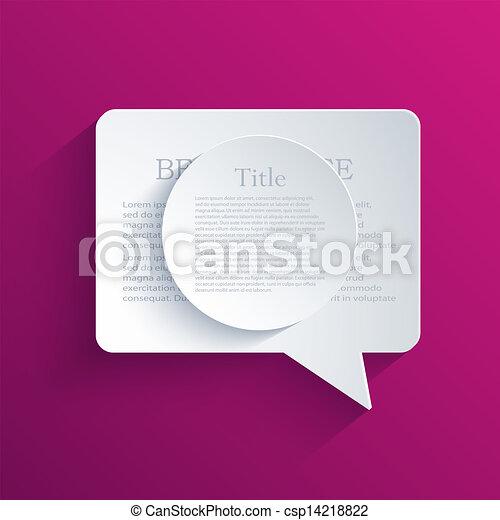 Vector bubble speech background. Eps10 - csp14218822