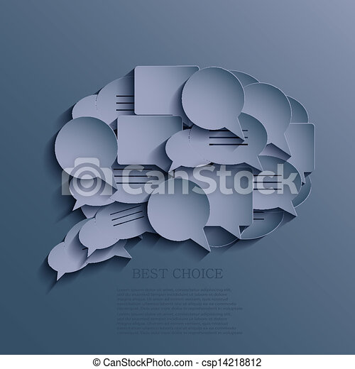 Vector bubble speech background. Eps10 - csp14218812