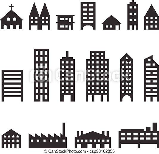 Vector building icons set - csp38102855