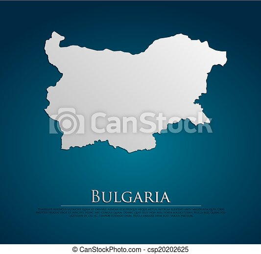 vector Bulgaria Map card paper - csp20202625