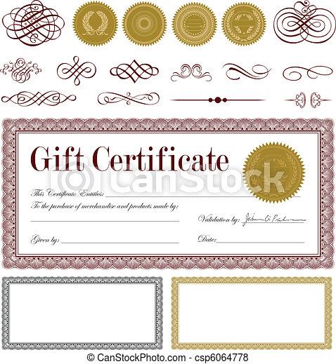 Vector Burgundy Gift Certificate Set - csp6064778