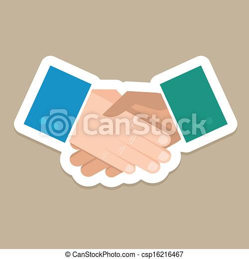 Vector business concept - handshake - csp16216467