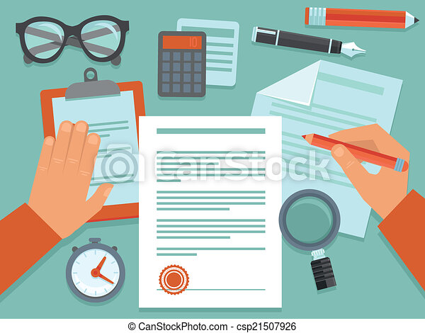 Vector business concept in flat style - csp21507926