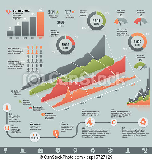 Vector business related infographic - csp15727129