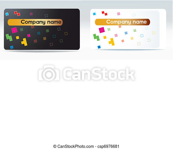 Vector Business Visit Card Tetris Color Drawing Basics For Making A