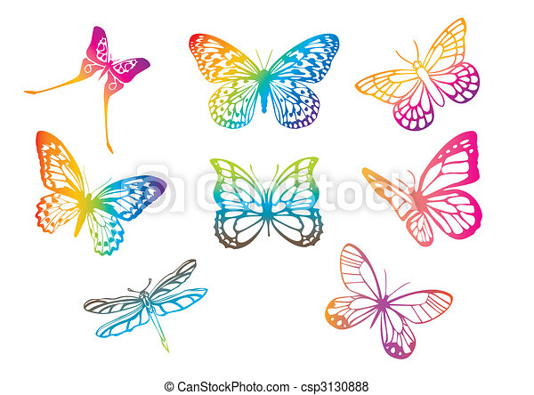 vector butterflies - csp3130888