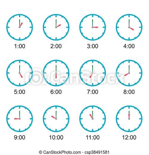 vector, cada, reloj, hora, exposición - csp38491581