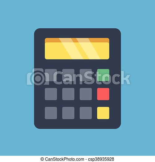 Vector calculator icon  Flat design