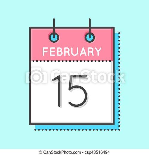 Vector Calendar Icon - csp43516494