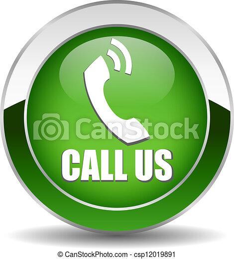 Vector call button - csp12019891