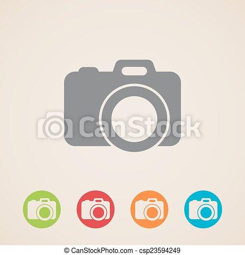 vector camera icon  - csp23594249