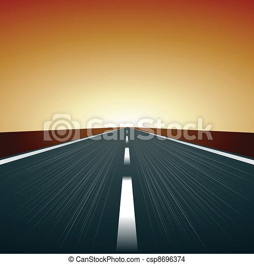 El vector borró el camino - csp8696374