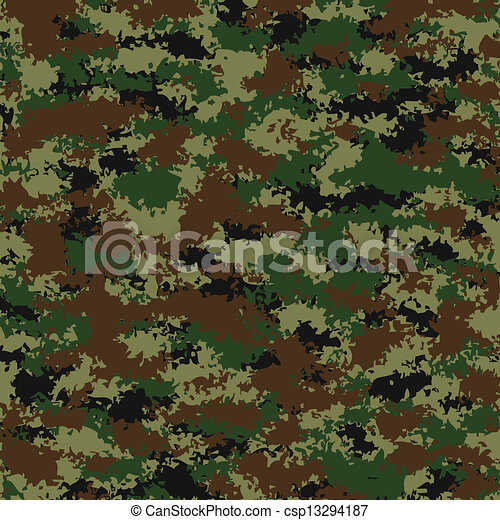 vector camouflage pattern - csp13294187
