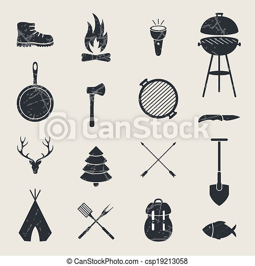 Vector Camping Equipment Icons