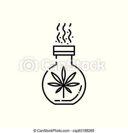Vector cannabis in cross, legalization health care - csp63188268