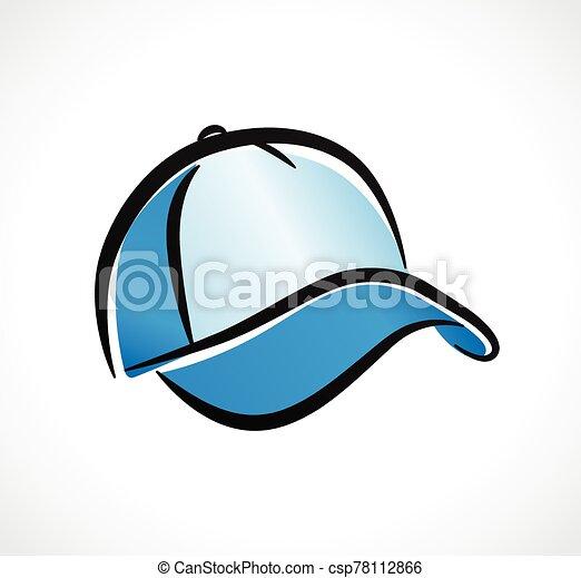 Vector cap design on white background - csp78112866