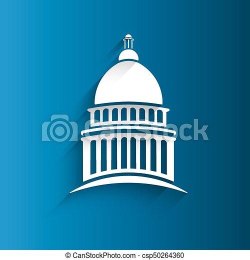 Vector Capitol Congress Building Icon - csp50264360