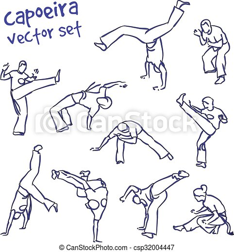 Capoeira Illustrations And Clipart 360 Capoeira Royalty Free