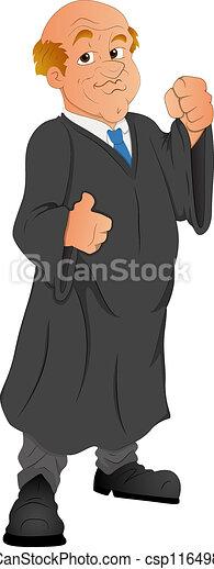 El abogado Cartoon vector - csp11649850